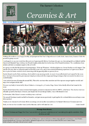 Newsletter Issue 19 - January 2017