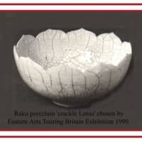 Crackle lotus porcelain bowl