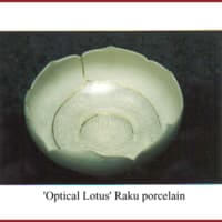 Optical lotus raku porcelain
